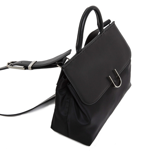 U SATCHEL - BLACK NYLON COMBI